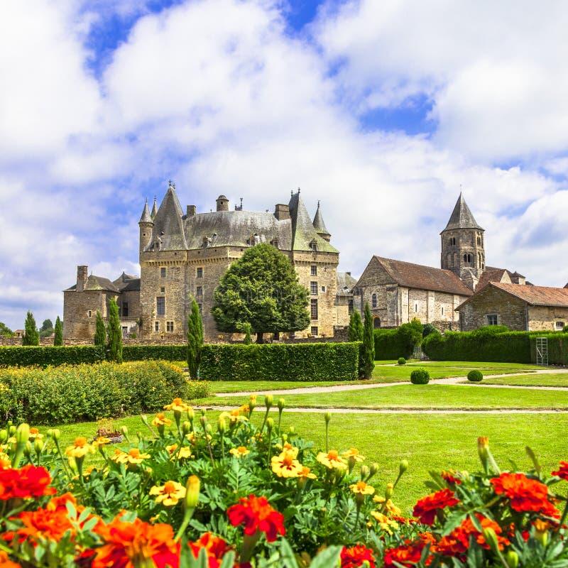 Jumilhac-le-groot kasteel stock afbeelding