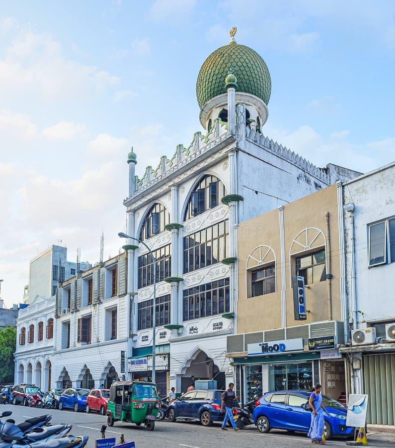 Jumma meczet fortu okręg w Kolombo fotografia royalty free