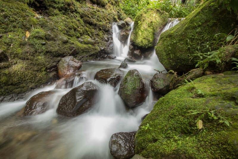 Jumog waterfall at Karanganyar, Central Java, Indonesia stock photos