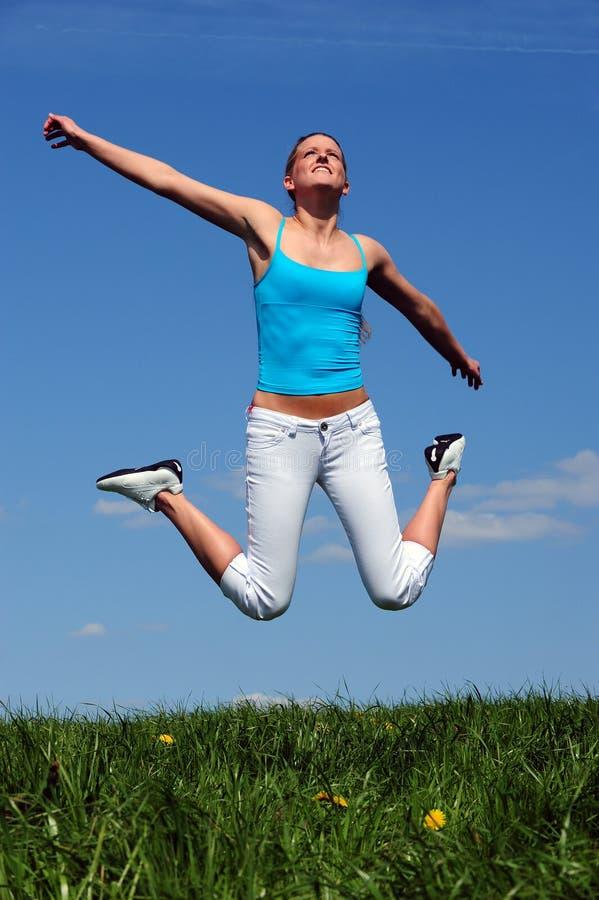 Download Jump stock photo. Image of panorama, season, meadow, legs - 10163586