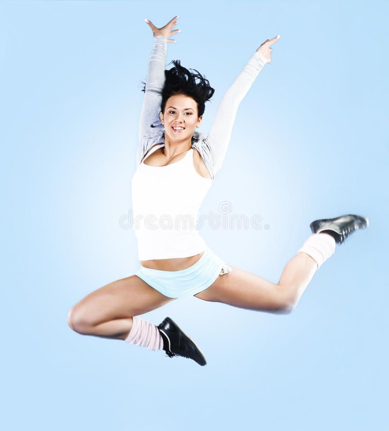 Download Jump stock photo. Image of aerobics, happy, attractive - 13203560