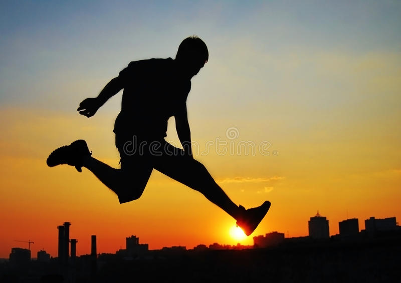 Jump -2 royalty free stock photography