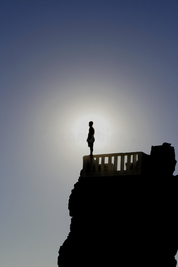 Download Jump stock photo. Image of silhouette, cliff, risk, stand - 2123392