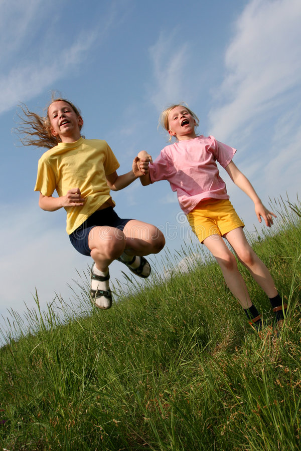 Download Jump stock photo. Image of bounce, color, bound, blond - 2632092