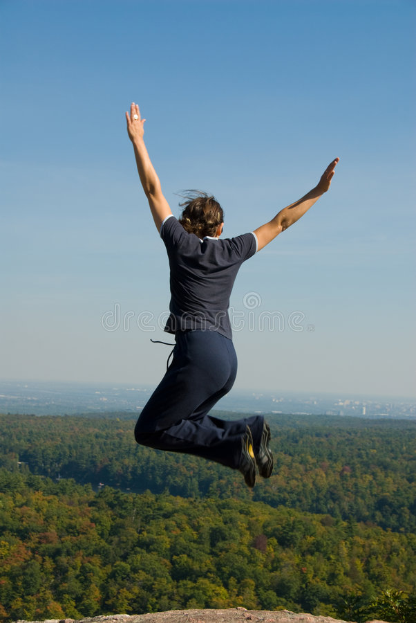 Jump! royalty free stock photo