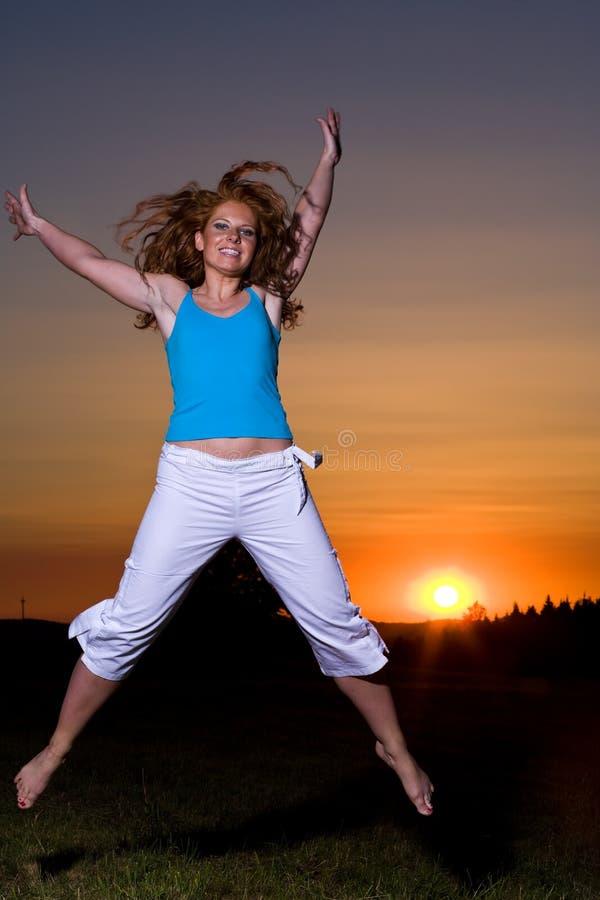 Download Jump stock photo. Image of sundown, darkness, dark, enjoyment - 3330714