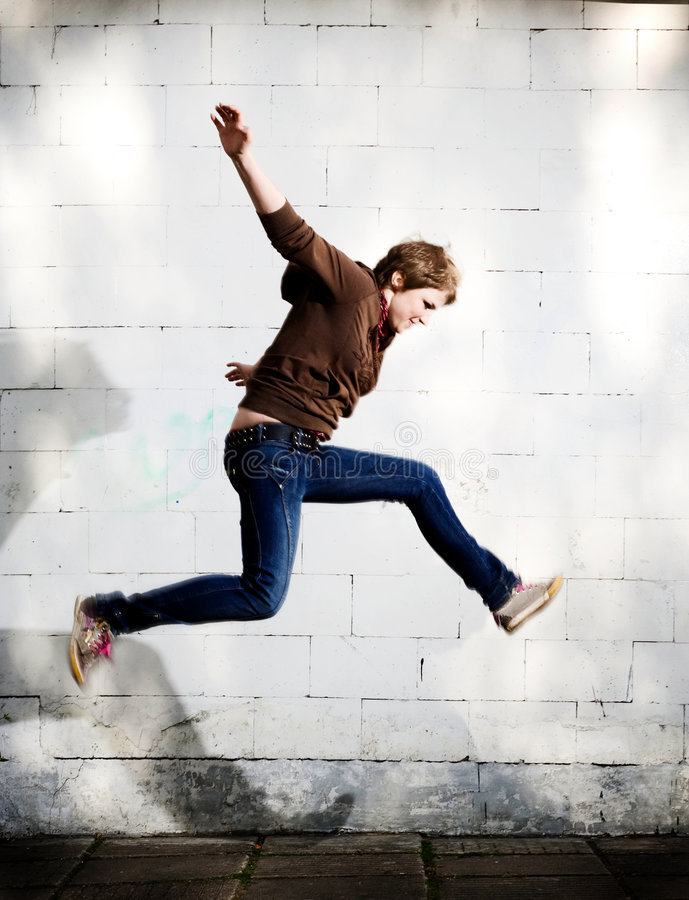 Free Jump. Royalty Free Stock Images - 5155599