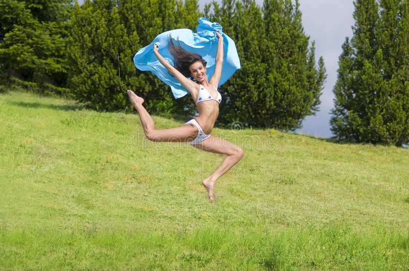 Download The jump stock photo. Image of athlete, nature, freedom - 5601444