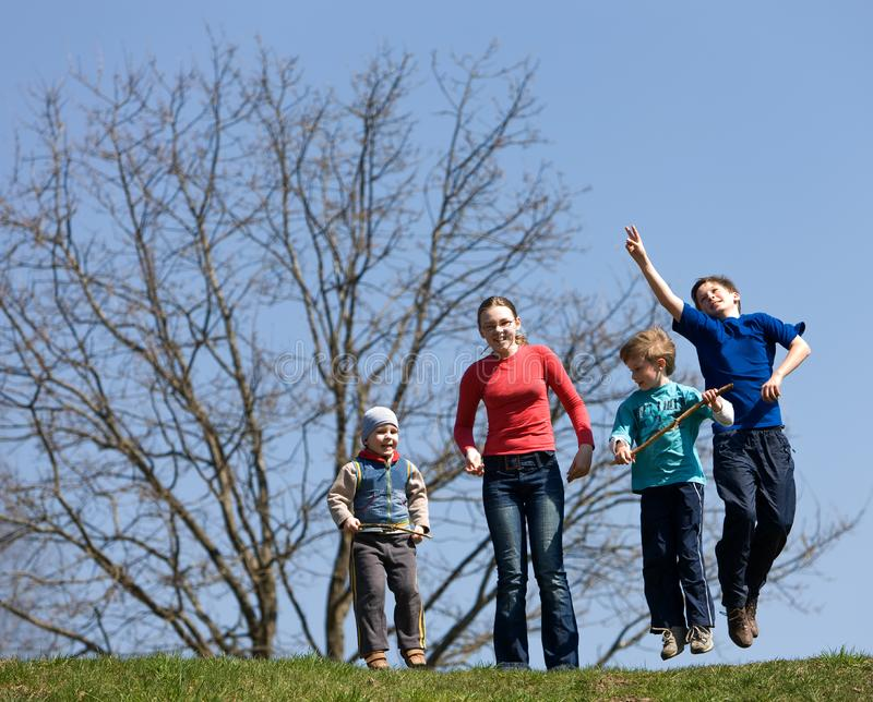 Download Jump stock photo. Image of green, healthy, jump, leisure - 9350642