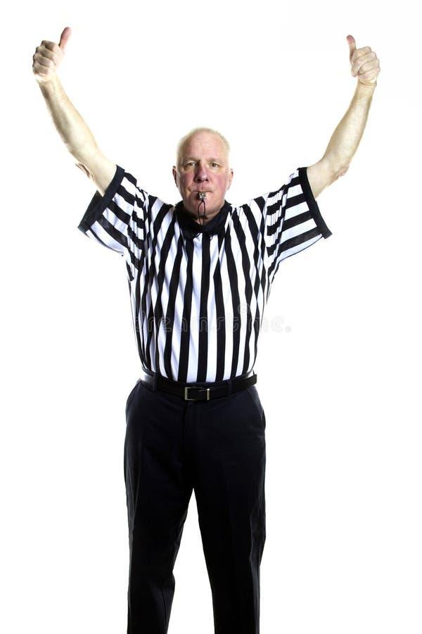 Jump Ball. Basketball referee signaling a Jump Ball royalty free stock photography