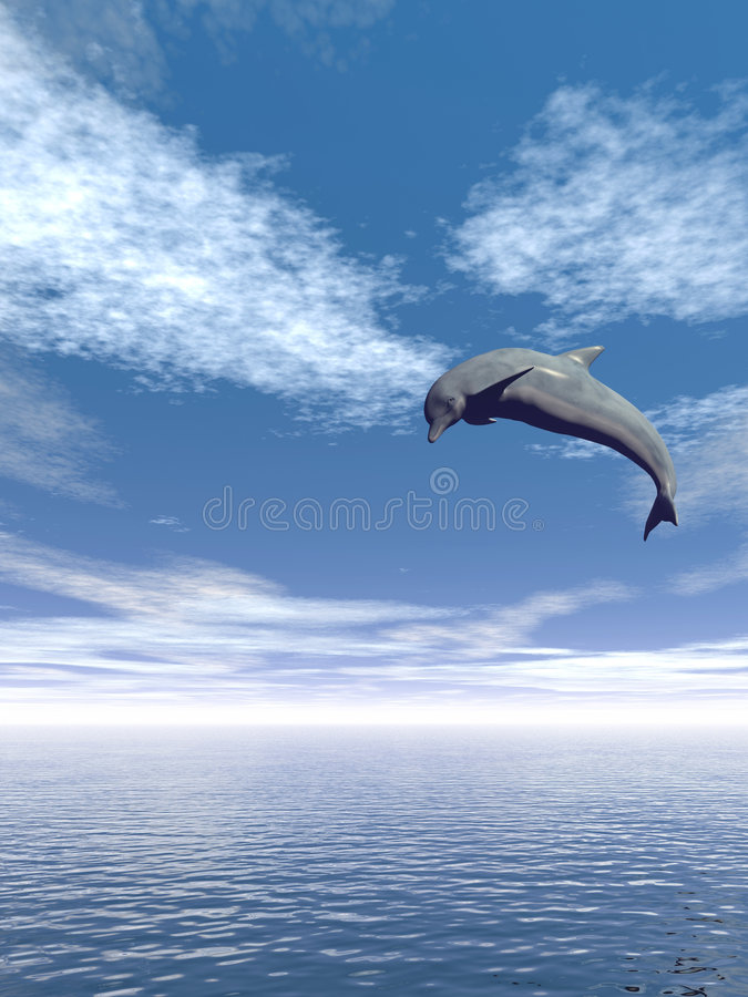 Download Jump_Dolphin_V stock illustration. Image of flying, vacation - 2031075