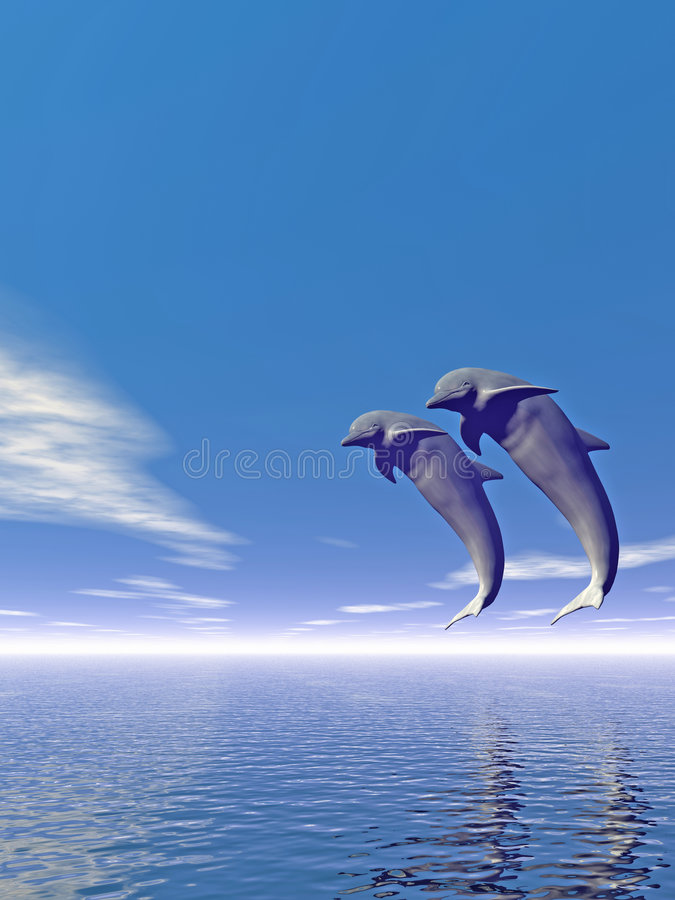 Download Jump_Dolphin3_V stock illustration. Image of render, freedom - 2129639