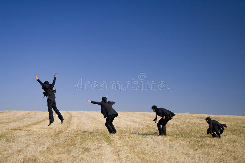 The Jump evolution stock photography