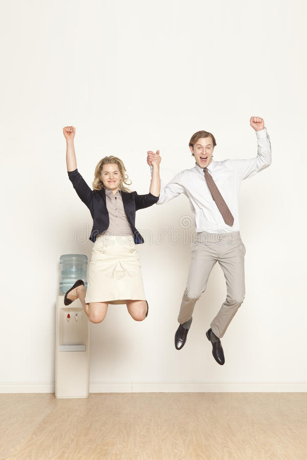 Free Jump For Success Stock Image - 9822351