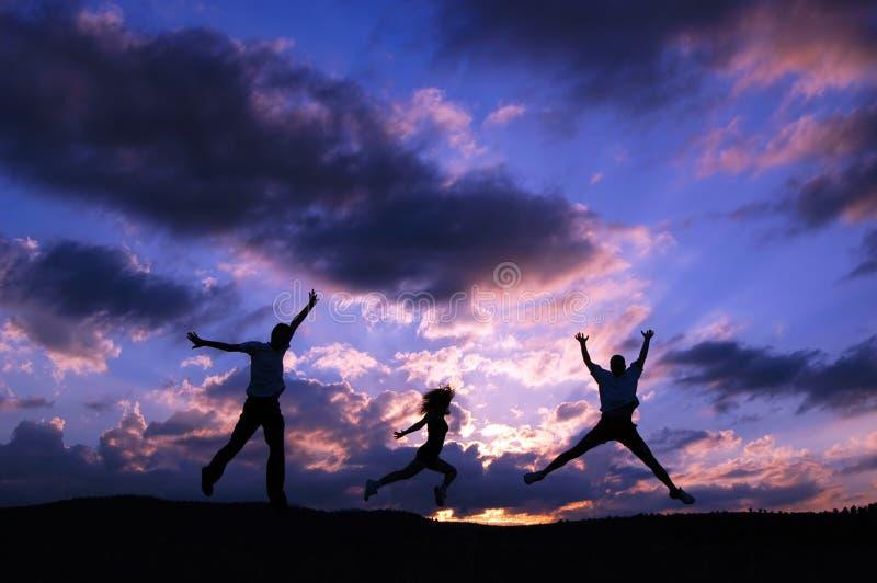 Jump for joy royalty free stock photo