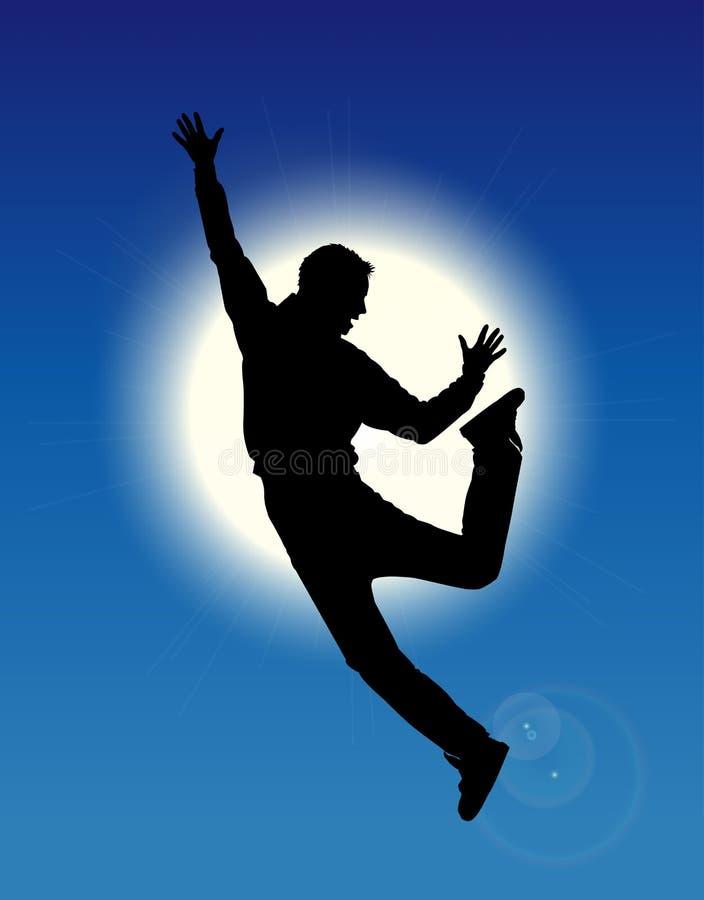 Jump_for_joy illustrazione vettoriale