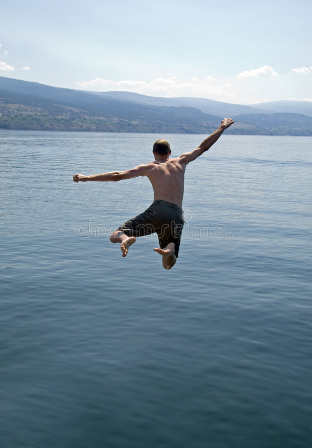 Jump for joy stock images