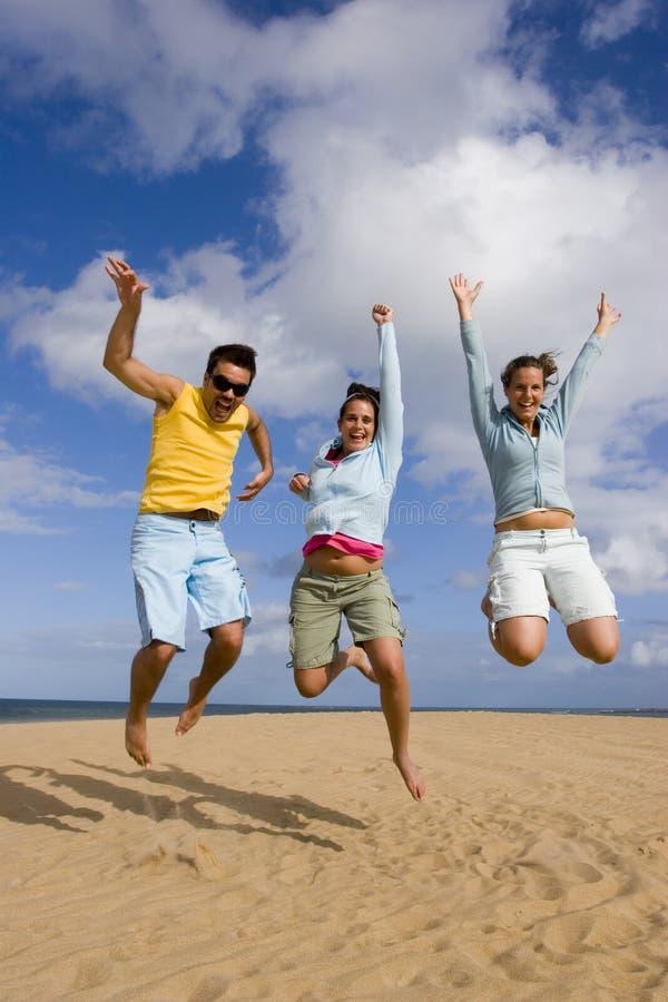 Jump of joy royalty free stock image