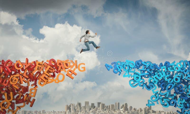 Jump for learn stock photos