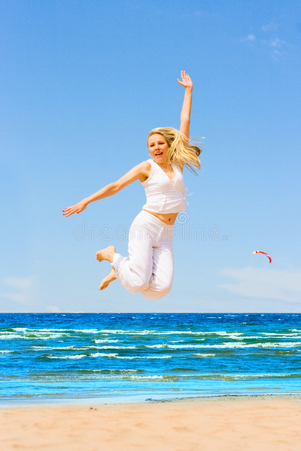 Download Jump like crazy stock photo. Image of nature, beauty, coast - 5565310