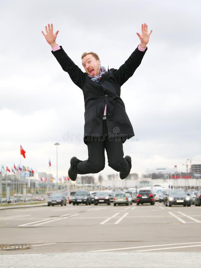 Jump man stock photos