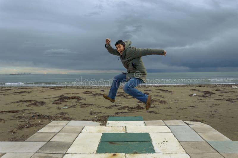 The jump stock photo