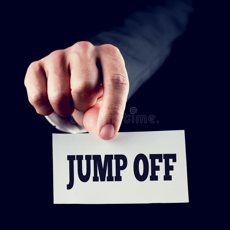 Jump off stock images