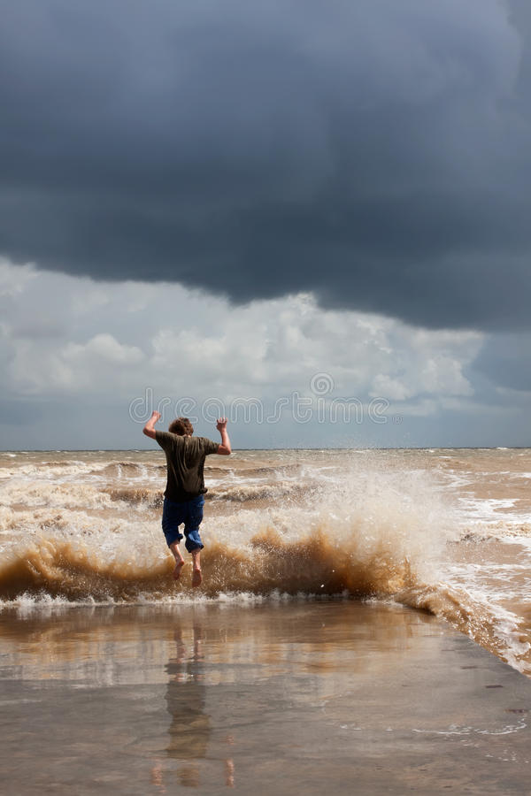 Download Jump over the waves stock photo. Image of ocean, coast - 20617126