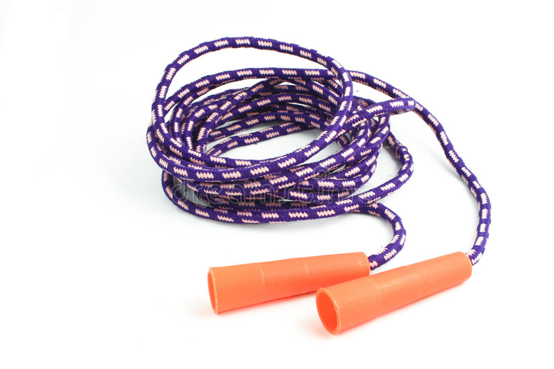 Jump rope. Isolated jump rope for kids or adults royalty free stock photos