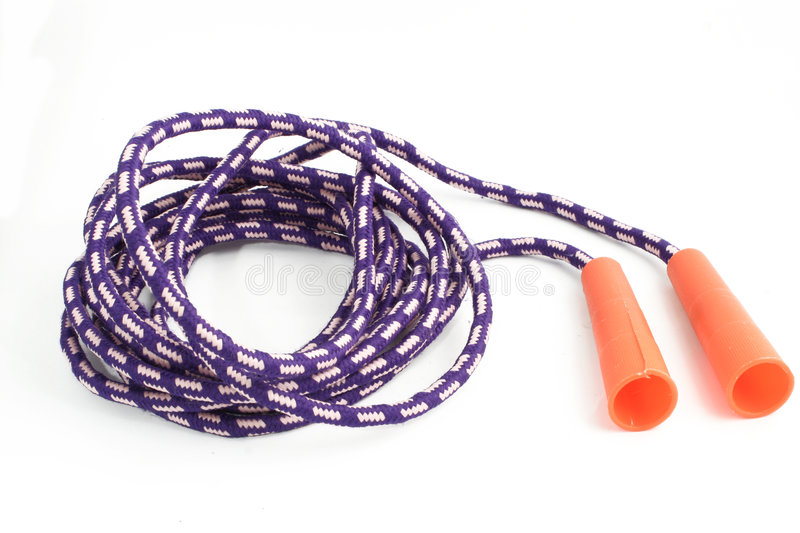 Jump rope. Isolated jump rope for kids or adults stock images