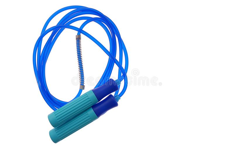 Jump rope or Skipping rope isolated on white background for Fitness equipment object royalty free stock image