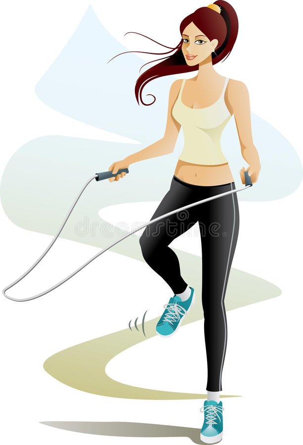 Jump Rope royalty free illustration
