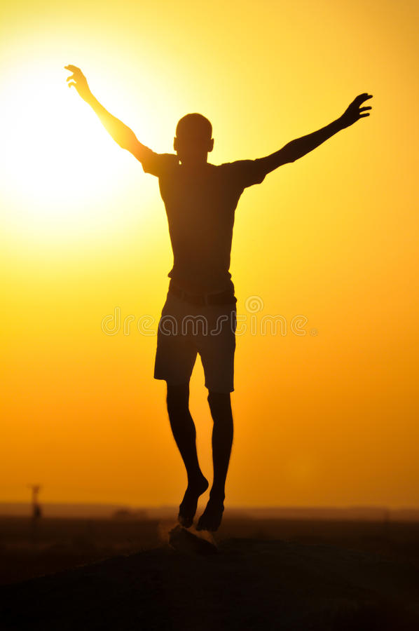 Download Jump silhouette stock image. Image of beach, high, holiday - 25848827