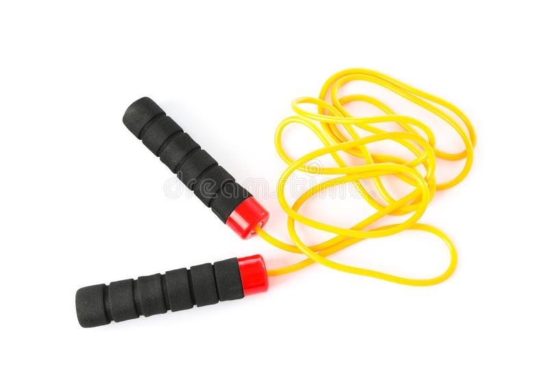 Jump or skipping rope isolated stock images