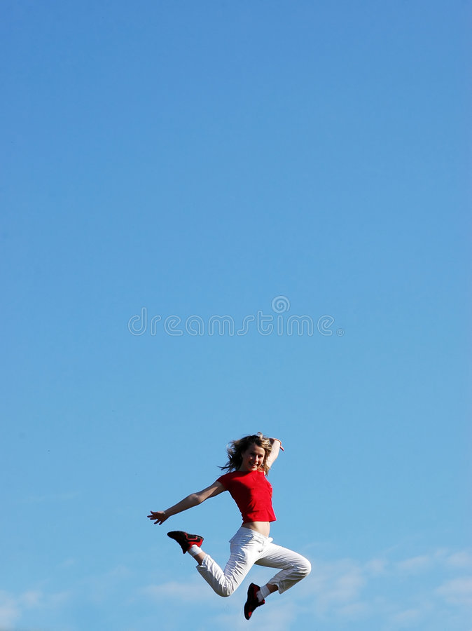 Jump in sky royalty free stock photography