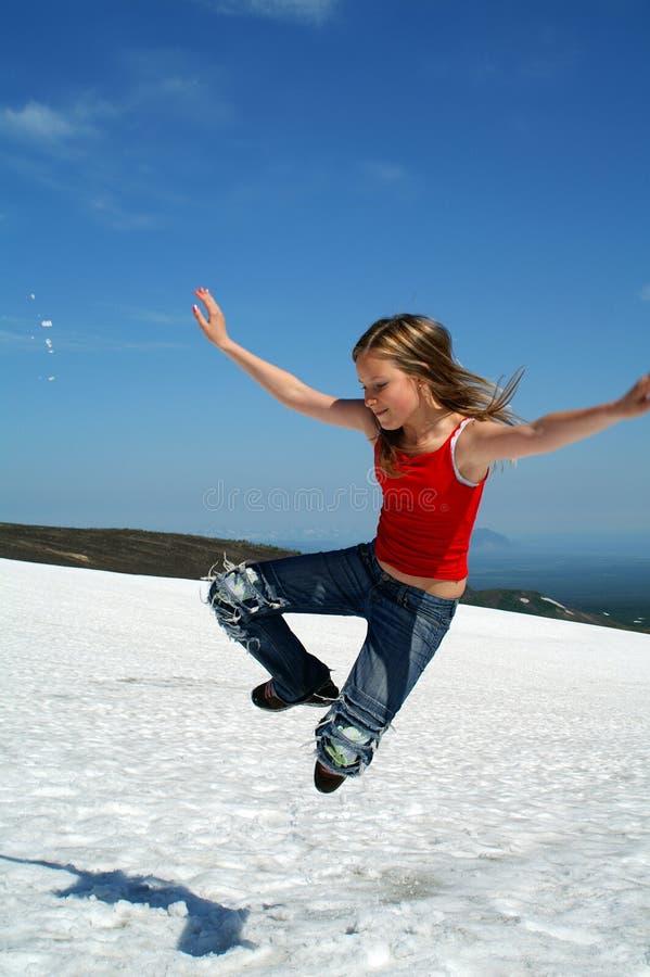 Download Jump skyward 2 stock image. Image of merrily, high, girl - 1297163