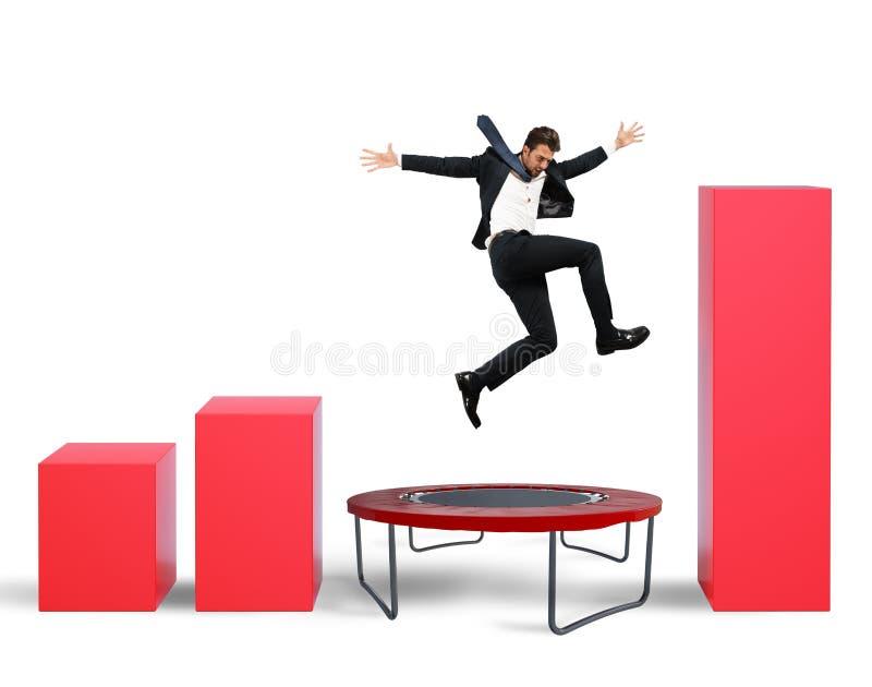 Jump between statistics stock photos