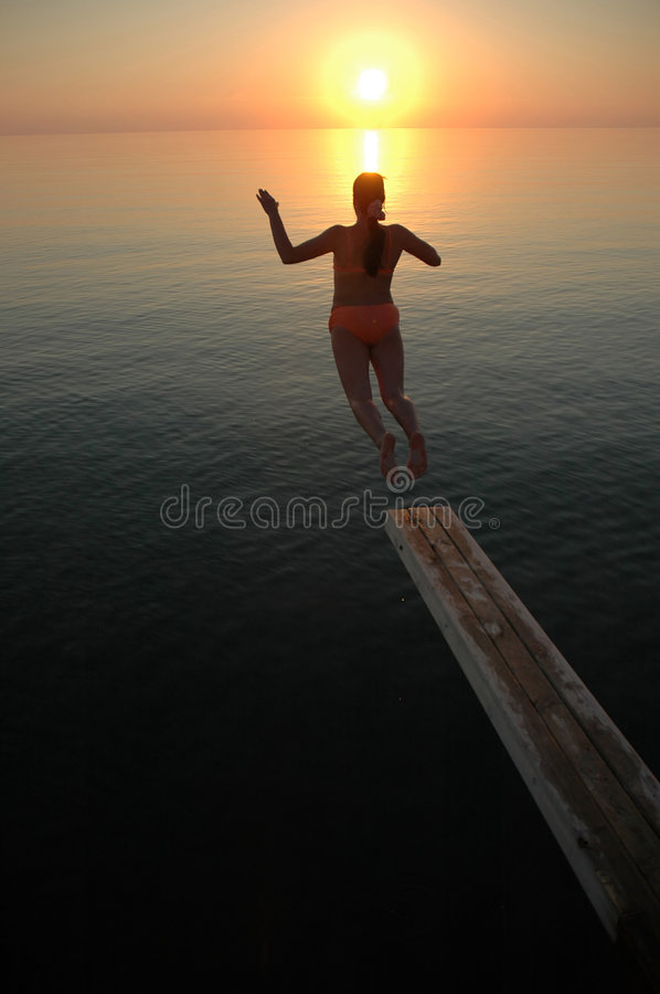Jump To Freedom Stock Image