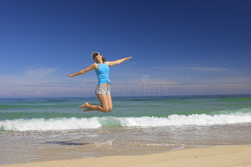 Jump to the sky royalty free stock images