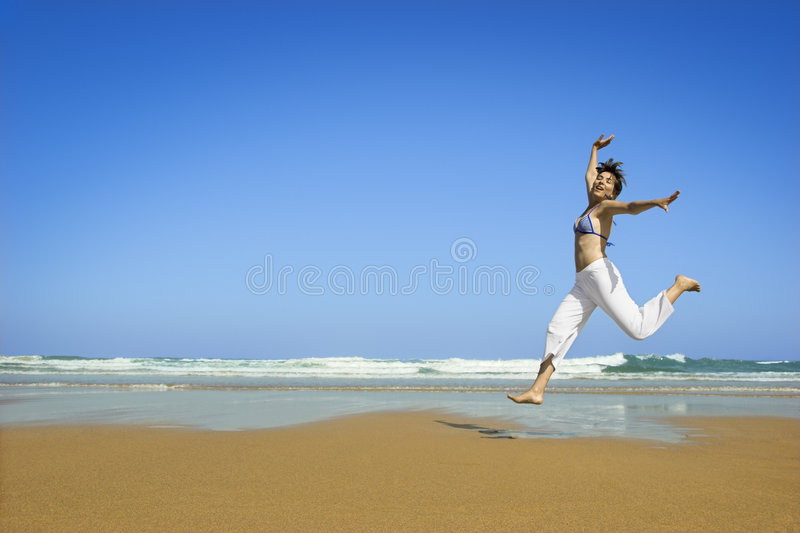 Jump to the sky royalty free stock photography