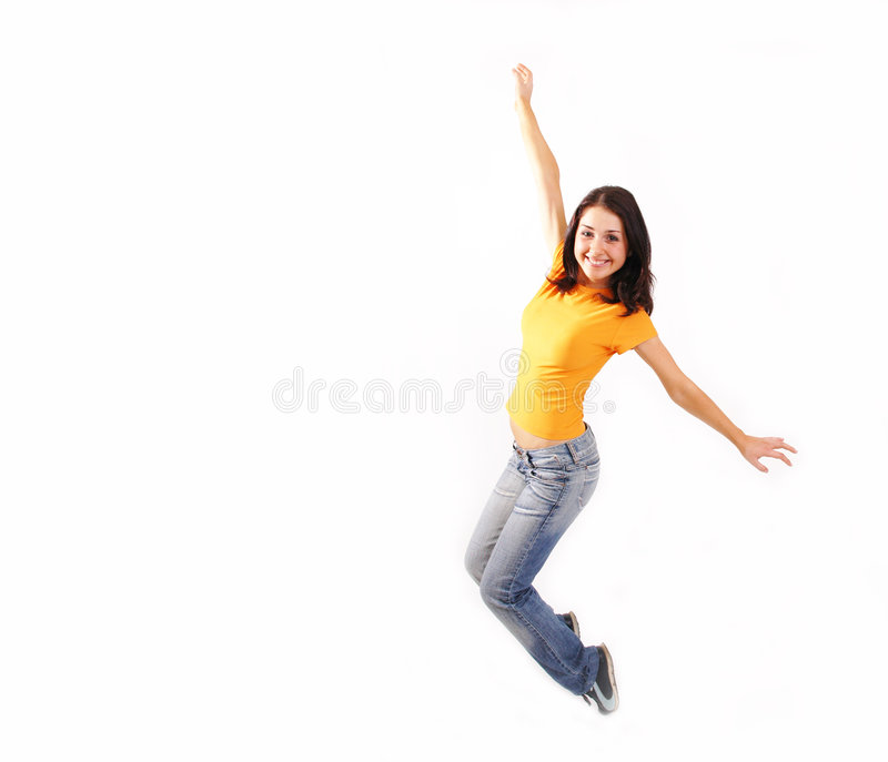 Jump up 2 stock images