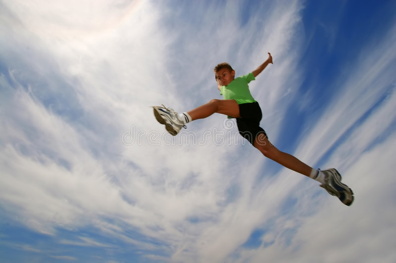 Jump7 stock images