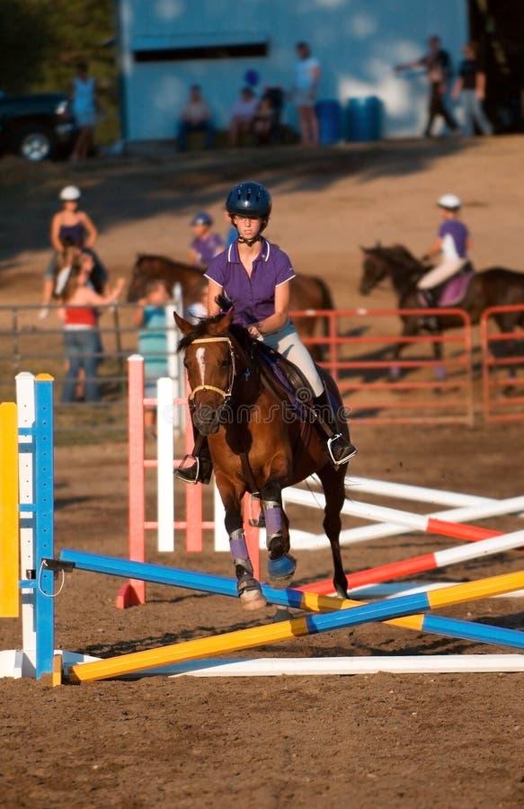 Jumper - Crossed Beams stock photo