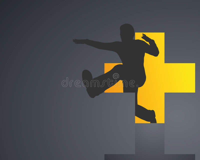 Jumper man stock illustration