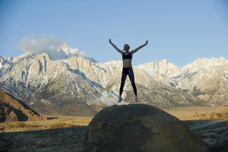 Download Jumper on Rock stock image. Image of peaceful, athlete - 13663139