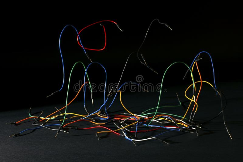 Jumper wires stock image