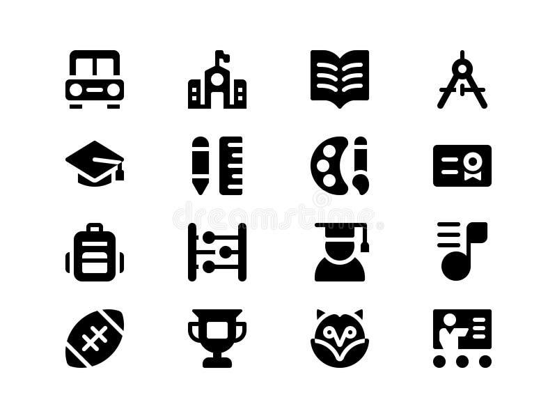 Jumpicon - Onderwijs Volume 1 glyph royalty-vrije illustratie