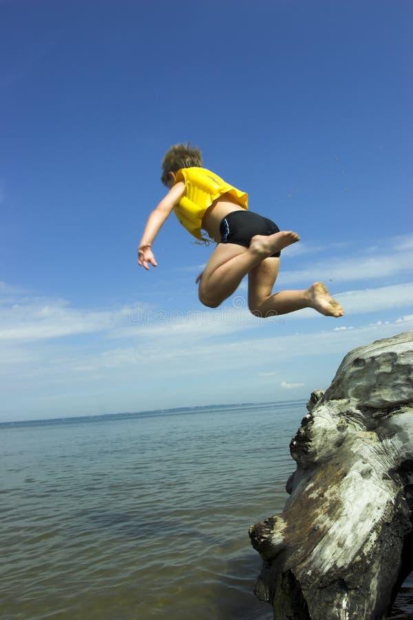 Jumpimng boy royalty free stock photo
