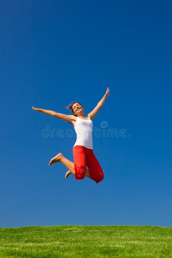 Download Jumping stock photo. Image of landscape, energy, sand - 13465676