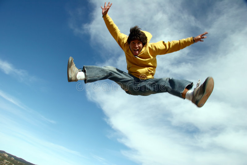 Download Jumping stock image. Image of conquest, energy, person - 1965069